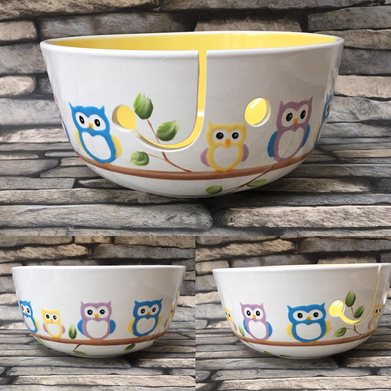 Knitting Bowl Uk : Yarn bowl owl knitting crochet knit crocheting gifts for