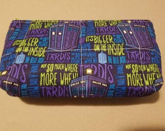 Doctor Who/TARDIS/The Blue Box/Bigger on the inside toiletry/cosmetic/school supply bag