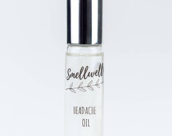 Headache Oil - with essential oils and crystals