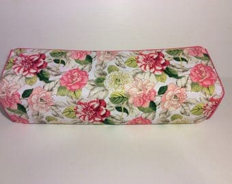 New! Cricut Maker and Explore/ Air/ Air 2/ One Custom Handmade Dust Cover Pink and White Floral with Pink Piping