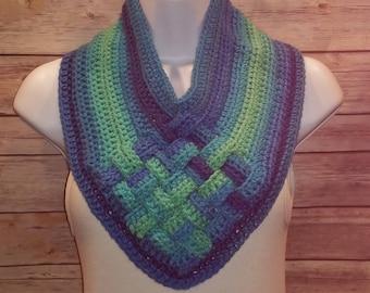 Crochet basket weave cowl neckwarmer