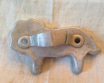Vintage Aluminum Lion Shaped Cookie Cutter
