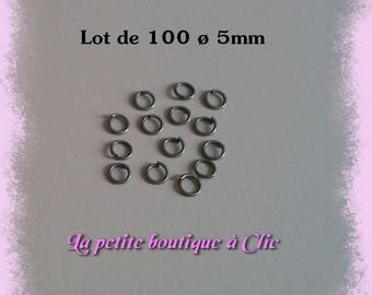 Set of 100 5mm diameter bronze open jump rings