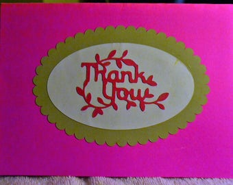 A simple  homemade Thank you Card