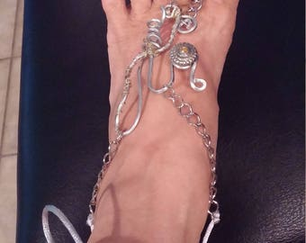 Hand made feet jewelry