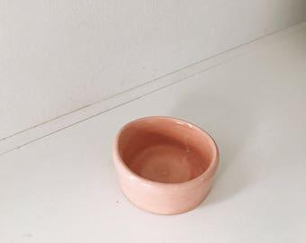 Handemade / Wheel Thrown / Mini Bowl / Peachy Pink / Minimal / Pottery
