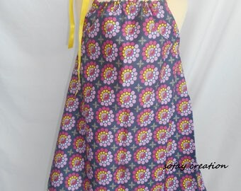 Summer girl neon and flower pattern dress