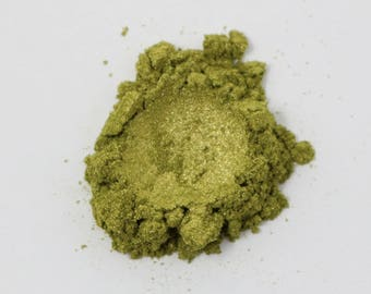 Olive Green Cosmetic Grade Mica - 10g