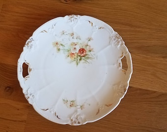 Porcelain WelMar Germany Two Handled Serving Tray