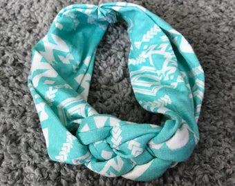 Turquoise Sailor Knot Baby Headband