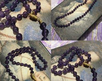 Art Deco amethyst necklace