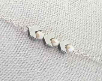 Little silver stars bracelet