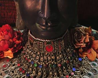 Moon Goddess Vintage Kuchi Tribal Choker