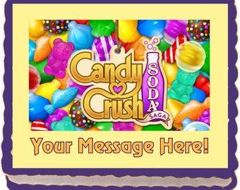 Candy Crush Soda Saga Edible Cake Topper