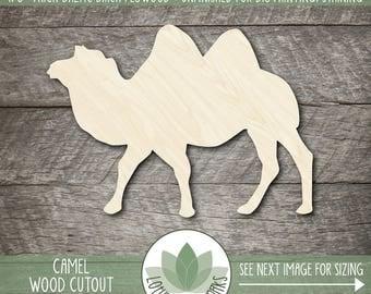 Camel Wood Cut Shape, Unfinished Wood Camel Laser Cut Shape, DIY Craft Supply, Many Size Options