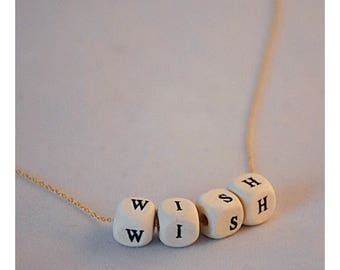 Necklace 14k Goldplated with text