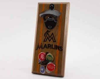 Miami Marlins Magnetic Bottle Opener