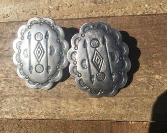 Sterling Concho Earrings