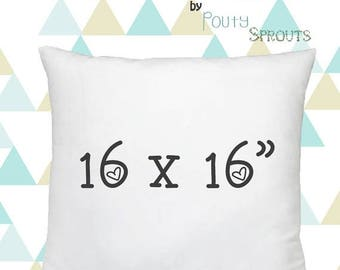 SALE ENDS SOON Faux Down Pillow Inserts, Soft Throw Pillows, Pillow Cushions, Couch Pillows, Throw Pillow Inserts, 16x16""