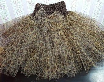 """""""Miss leopard"""" tutu skirt 18 months - 4t"""