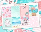 Last Summer - FULL Vertical Kit - hand painted planner sticker kits perfect for the beach!