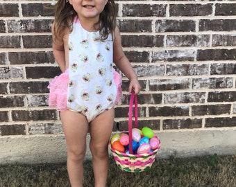 Easter Romper, Easter bunny romper, bunny romper, Easter dress, Easter outfit, spring romper, bunny romper, spring outfit, bunny outfit