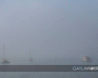 Fog - Pillar Point Harbor - Fine Art Print - 8x10 11x16, Landscape Photograph