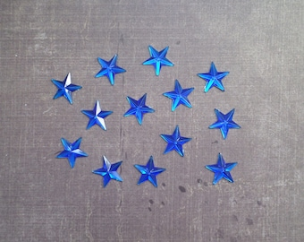 Set of 48 rhinestones form Star 1.3 cm Blue night