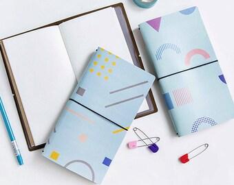 Cute Travelers Notebook, Travelers Notebook Set, Travelers Notebook Gift, Fauxdori, Fauxdori Notebook, Vegan Journal, Vegan Notebook