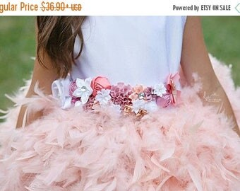 DOUBLE SALE Stunning custom made flower girl dress sash,choose your own colors to match your flower girl dresses, flower girl dress,dress sa