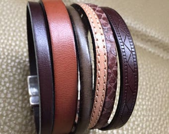 Leather Bracelet genuine poour men RISTMIK