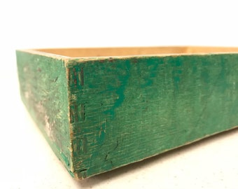 Small Green Vintage Wooden Boxes