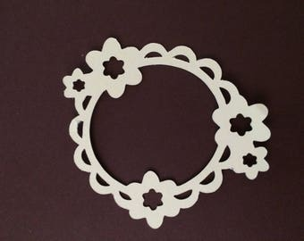 Cut out frame round flowers