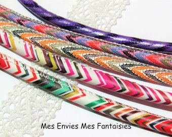 5 x 20, 6mm leather cord ideal gradient mix #4 color cuff bracelet