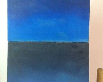 Cielo y tierra,pinturas al óleo sobre lienzo de algodón en bastidor