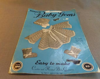 Knit and Crochet Patterns, Doreen Baby Gems, Volume 100, Nell Armstrong, Pub. in 1950