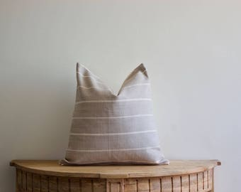 18x18 Grey Stripe Pillow Cover