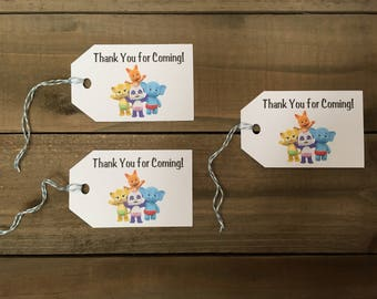 Word Party Birthday Thank You Tags (Set of 10)