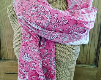 Blockprinted scarf/sarong, 100% cotton, scarf, sarong, gifts for her