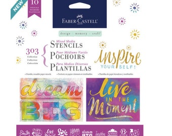 Faber Castell® Mixed Media Stencils, 303 Collection