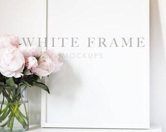 WHITE FRAME MOCKUPS   6 Stock Images