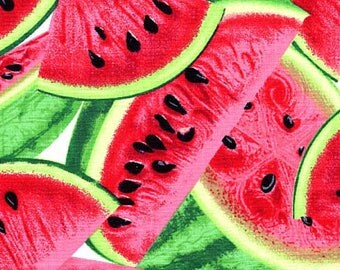 Watermelon Slices from the Fresh Fruit Collection from Timeless Treasures, Watermelon, Summer Fabric