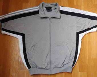 ADIDAS jersey, vintage t-shirt of 90s hip-hop clothing, 1990s hip hop shirt, OG, gangsta rap, gray old school basketball tank, size S Small