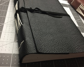 Jumbo personalized leather journal/notebook, hand made