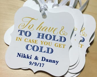 To Have and To Hold Favor Tags,Pashmina/Blanket Favor Tags,Winter Wedding Favor Tags,Hot Cocoa Favor Tags