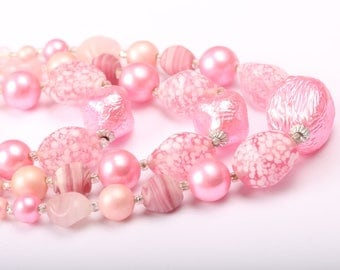 Japan Pink Necklace, 1950s