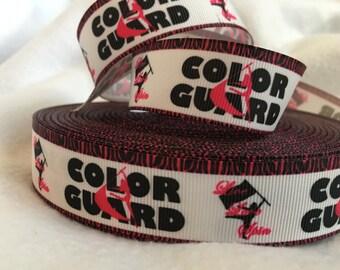 Color Guard Ribbon, Grosgrain Ribbon, Cute Ribbon, Cutie, Color Guard Flags, Hairbows, Scrapbooking, Lanyard,  Guard Ribbon