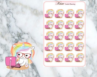 Laptop Unicorn Planner Stickers
