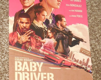 "Baby Driver ""B"" 11x17 Promo Movie POSTER"