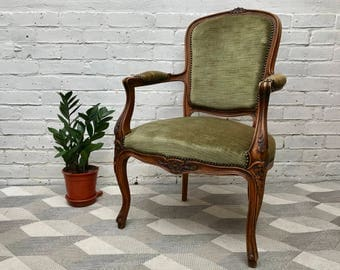 French Louis XVI Style Wooden Chair #610